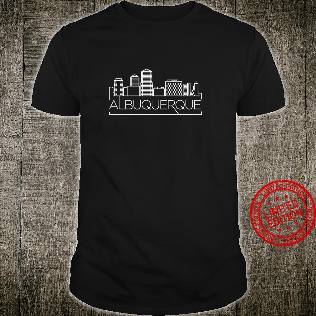 Albuquerque City Skyline Line Style and Shirt