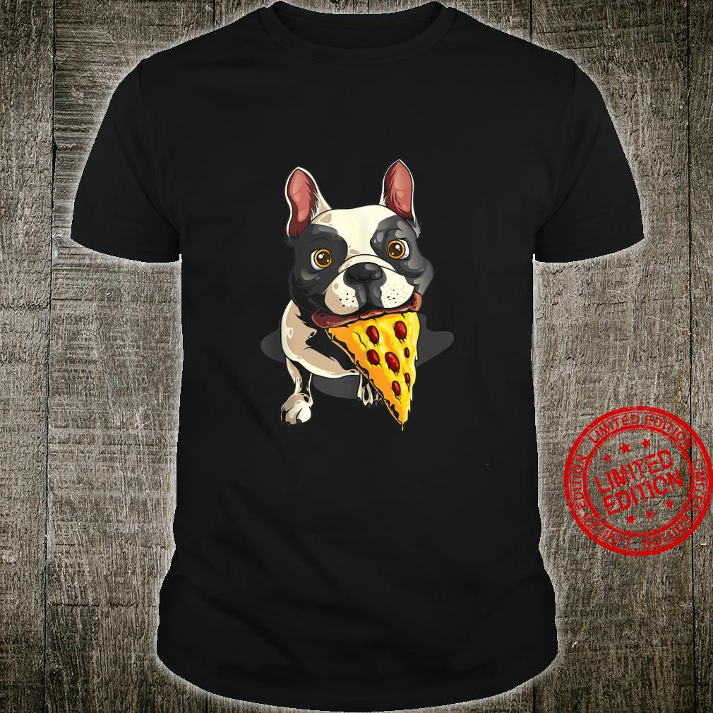 Cool French Bulldog With Pizza Pie Dog Owner Shirt