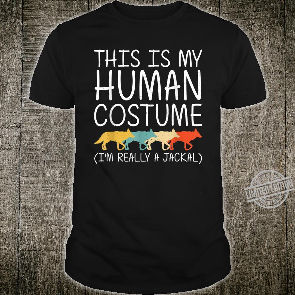 Jackal Halloween Human Costume Coyote Wolf Easy DIY Shirt