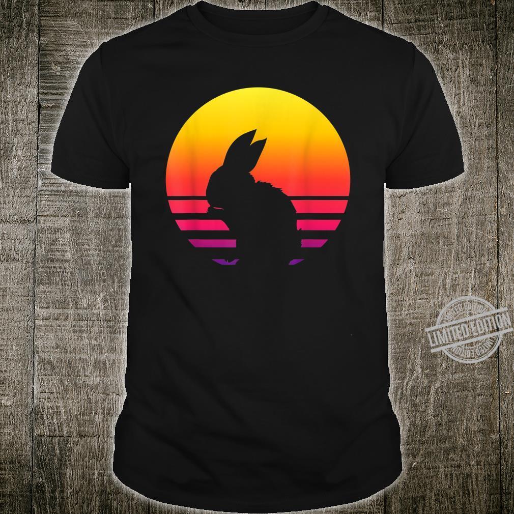 Retro Vintage Rabbit Sunset Shirt